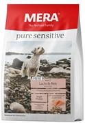 """Mera - Сухой полнорационный корм для взрослых собак малых пород с чувствительным пищеварением (с лососем и рисом) Pure Sensitive Mini """"Adult Lachs & Reis"""""""