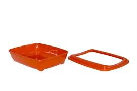 Moderna - Туалет-лоток средний с рамкой artist medium + rim, 42х30х12  оранжевый