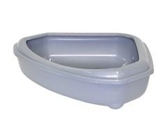 Moderna - Туалет-лоток угловой с рамкой corner+rim, 55х45х13, серый