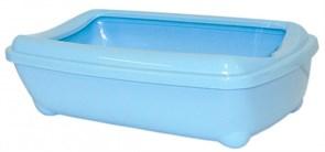 Moderna - Туалет-лоток большой с рамкой artist large + rim, 49х37х13 небесно голубой