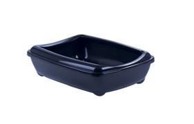 Moderna - Туалет-лоток большой с рамкой artist large + rim, 49х37х13 черничный