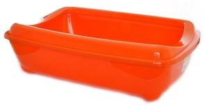 Moderna - Туалет-лоток большой с рамкой artist large + rim, 49х37х13 оранжевый