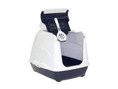 Moderna - Туалет-домик Flip с угольным фильтром, 50х39х37см,  королевский синий