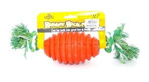 """Benelux - Игрушка для собак резиновая с канатом """"Бочонок"""" 8*32 см Rubber+rope dog toy nr 1 oscar"""