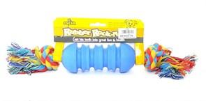 """Benelux - Игрушка для собак резиновая с канатом """"Гантелька"""" 5*30 см Rubber+rope dog toy nr 2 oscar"""