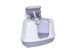 Moderna - Туалет-домик угловой Flip с угольным фильтром, 55х45х38см, серый