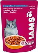 Iams - Паучи для кошек старше 7 лет (с курицей в соусе) Cat Pouch