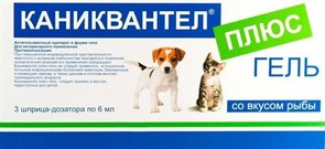 Maramed Pharma - Каниквантел+ Гель от Глистов для собак и Кошек, 3шт. (1шт.=12кг)