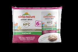 Almo Nature - Паучи для кошек (с Тунцом и Курицей) Набор 6 шт. по 55 г Multipack Classic Tuna and Chicken