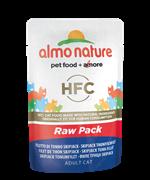 "Almo Nature - Паучи для кошек ""Филе Полосатого Тунца"", 75% мяса Classic Raw Pack Skipjack Tuna Fillet"