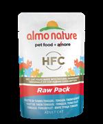 "Almo Nature - Паучи для кошек ""Филе Тонгольского Тунца"", 75% мяса Classic Raw Pack Tonggol Tuna Fillet"