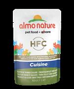 Almo Nature - Паучи для кошек (с Тунцом и Морскими водорослями) Classic Cuisine Tuna Fillet and Seaweed