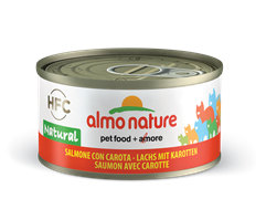Almo Nature - Консервы для кошек, 75% мяса (с Лососем и Морковью) Legend Adult Cat Salmon and Carrot