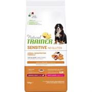 Trainer - Сухой корм для щенков средних и крупных пород (с лососем) Natural Sensitive No Gluten Medium/Maxi Puppy Salmon
