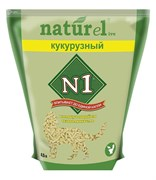 """N1 - Комкующийся наполнитель Naturel """"Кукурузный"""""""