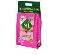 N1 - Силикагелевый наполнитель для кошечек, 5л, (Розовый) Crystals