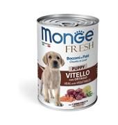 Monge - Консервы для щенков мясной рулет (телятина с овощами) Dog Fresh Chunks in Loaf