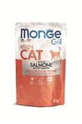 Monge - Паучи для взрослых кошек (норвежский лосось) Cat Grill Pouch