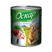 Оскар - Консервы для собак (с говядиной и индейкой)