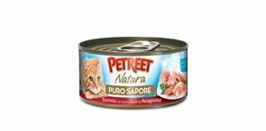 Petreet - Консервы для кошек (кусочки тунца с сурими со вкусом лобстера в рыбном супе)