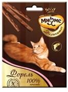 Мнямс - Лакомство для кошек (палочки с форелью) Деликатес