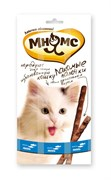 Мнямс - Лакомство для кошек (палочки с лососем и форелью) 3шт х 5г