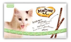 Мнямс - Лакомство для кошек (палочки с уткой и кроликом) 10шт х 5г