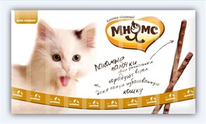 Мнямс - Лакомство для кошек (палочки с цыпленком и уткой) 10шт х 5г