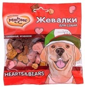 "Мнямс - Лакомство для собак ""Жевалки HEARTS&BEARS"" (говядина и ягненок)"