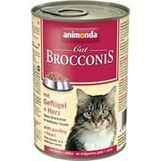 Animonda - Консервы для взрослых кошек (с мясом домашней птицы и сердцем) BROCCONIS CAT