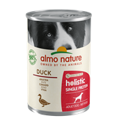 Almo Nature - Консервы для собак с чувствительным пищеварением (утка) Holistic Single Protein