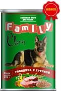 Clan Family - Консервы для собак (говядина с гречкой) №43