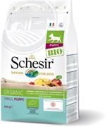 Schesir Bio - Сухой корм для для щенков мелких пород (домашняя птица)