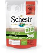 Schesir Bio - Консервы для кошек (говядина)