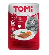 Tomi - Паучи для кошек (c говядиной в морковном желе)