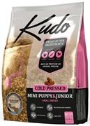 Kudo - Сухой беззерновой корм холодного прессования для щенков мелких пород (цыпленок)