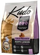 Kudo - Сухой беззерновой корм холодного прессования для щенков средних и крупных пород (цыпленок)