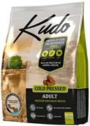 Kudo - Сухой беззерновой корм холодного прессования для взрослых собак средних и крупных пород (цыпленок)