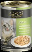 Edel Cat - Консервы для кошек нежные кусочки в соусе (индейка с печенью)