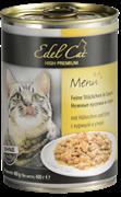 Edel Cat - Консервы для кошек нежные кусочки в соусе (курица с уткой)
