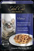 Edel Cat - Паучи для кошек (кусочки в соусе с лососем и форелью)