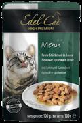 Edel Cat - Паучи для кошек (кусочки в соусе с уткой и кроликом)