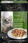 Edel Cat - Паучи для кошек (кусочки в соусе с индейкой и уткой)