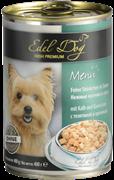 Edel Dog - Консервы для собак нежные кусочки в соусе (телятина с кроликом)