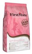 FirstMate - Сухой низкозерновой корм для котят и кошек (с курицей) Cat & Kitten