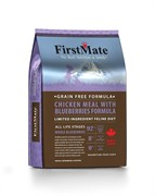 FirstMate - Сухой беззерновой корм для котят и кошек (с курицей и голубикой) Chicken Meal with Blueberries