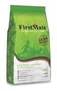 FirstMate - Сухой низкозерновой корм для щенков и собак всех пород (с ягненком и овсом) Free Range Lamb Meal & Oats