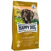 Happy Dog - Сухой корм для собак средних и крупных пород при пищевой аллергии и чувствительном пищеварении (с уткой, морской рыбой и каштаном) Supreme Sensible Piemonte