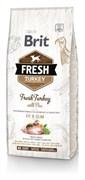 Brit Fresh - Сухой корм для собак Контроль веса (с индейкой и горохом) Fresh Turkey with Pea Light Fit & Slim