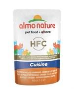 Almo Nature - Паучи Холистик для кошек (куриное филе с сыром) Classic Cuisine Chicken Fillet And Cheese